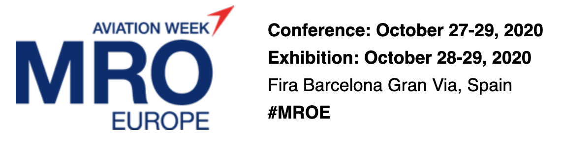 MRO Europe, Fira Barcelona Gran Via, Spain, October 27-29, 2020